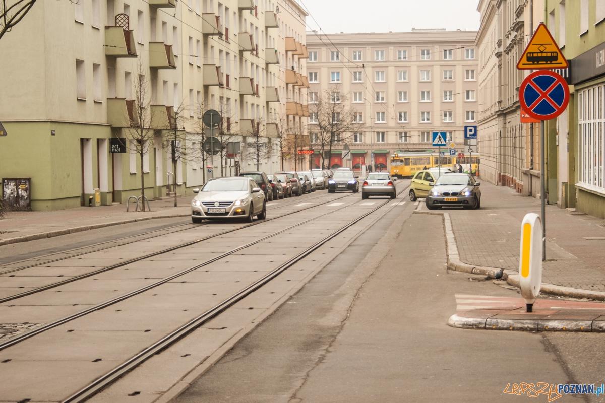 ulica 23 lutego / torowisko / tory  Foto: © lepszyPOZNAN.pl / Karolina Kiraga