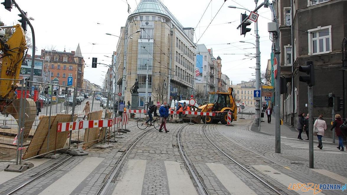 Nowa organizacja ruchu w rejonie pl. Wiosny Ludów  Foto: UMP