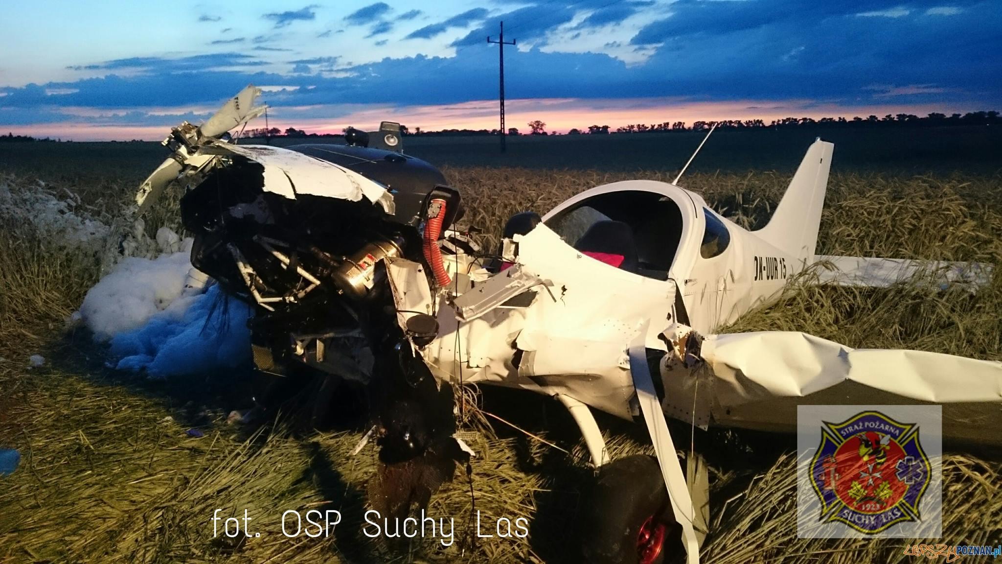 katastrofa samolotu typu BRISTELL RG  Foto: OSP Suchy Las