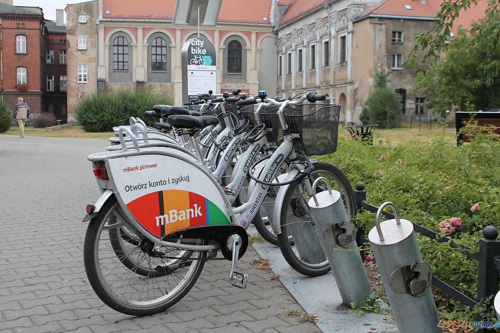 Rower miejski - stacja Garbary  Foto: Tomasz Dworek