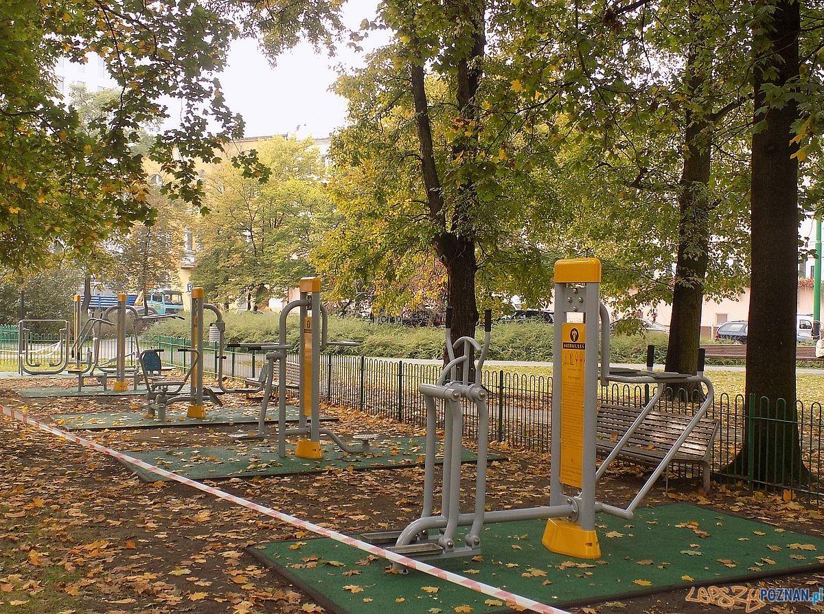 Siłownia w Parku Marcinkowskiego  Foto: Mirosława Halilivić / Rada Osiedla Stare Miasto