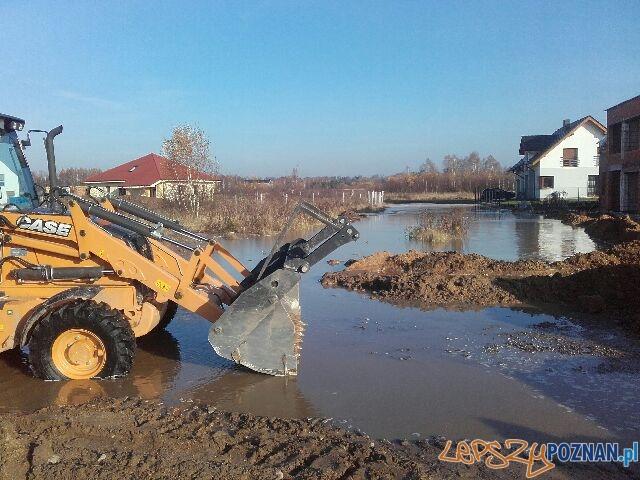 Miejsce awarii wodociągowej - 22.11.2016  Foto: Aquanet