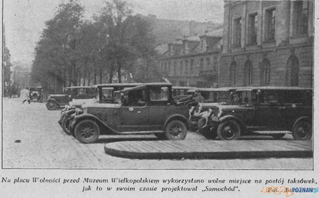Aleje Marcinkowskiego - rok 1929  Foto: Fotopolska  / Czasopismo Samchód nr 34 / 1929