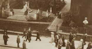 Św. Marcin / Pomnik Adama Mickiewicza 1913  Foto: PAN i PAU w Krakowie / facebook