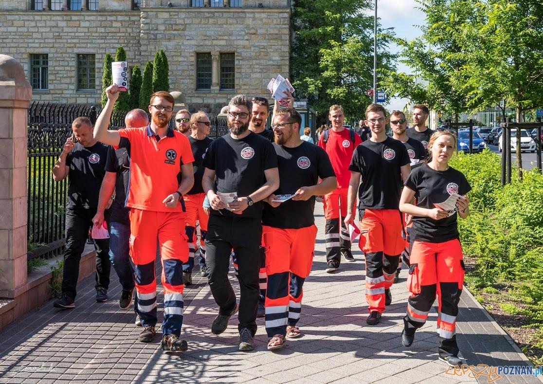 Protest ratowników medycznych (7)  Foto: ADAM SZACH