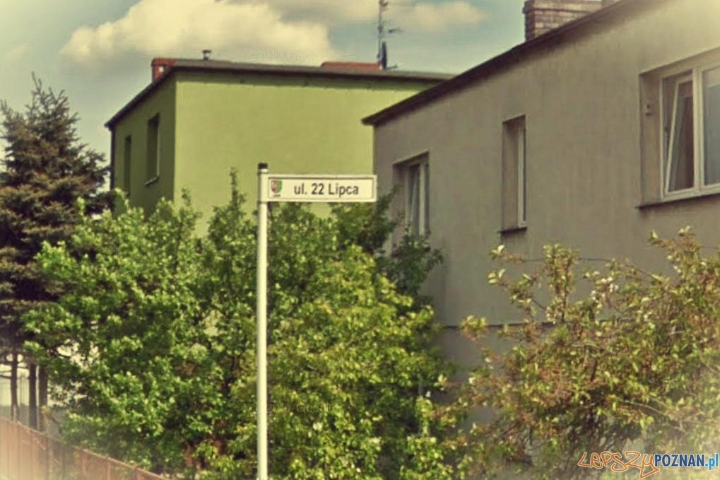 Ulica 22 lipca w Luboniu  Foto: Google Street View