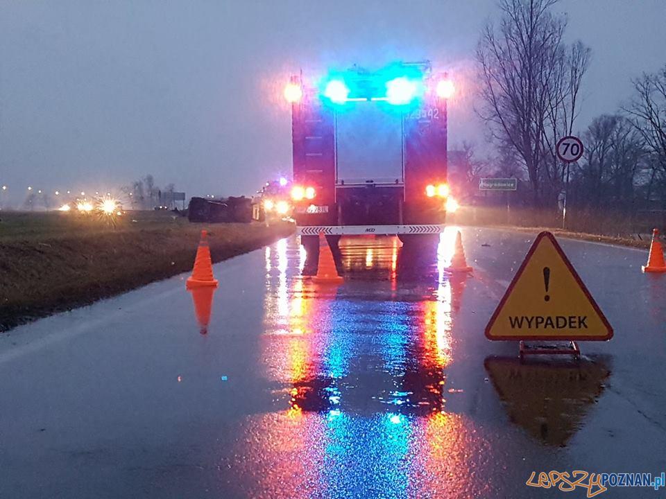 Tragiczny wypadek w Nagradowicach  Foto: OSP Kleszczewo