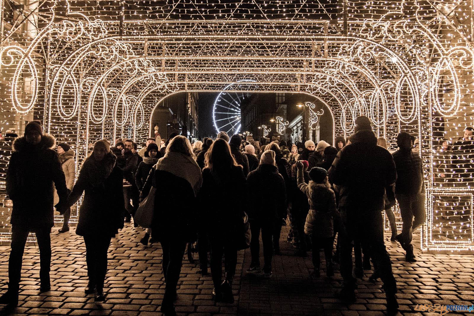 Rozświetlenie choinki miejskiej  Foto: lepszyPOZNAN.pl / Ewelina Jaskowiak