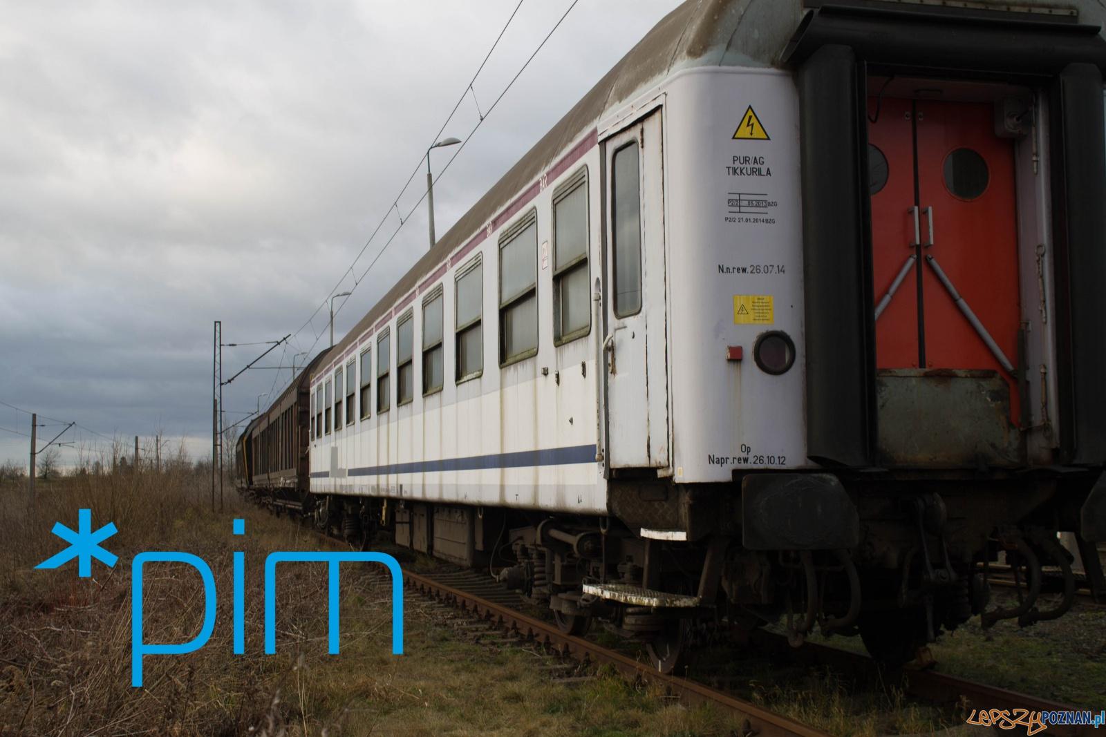 Lokomotywy i wagony w Parku Rataje  Foto: