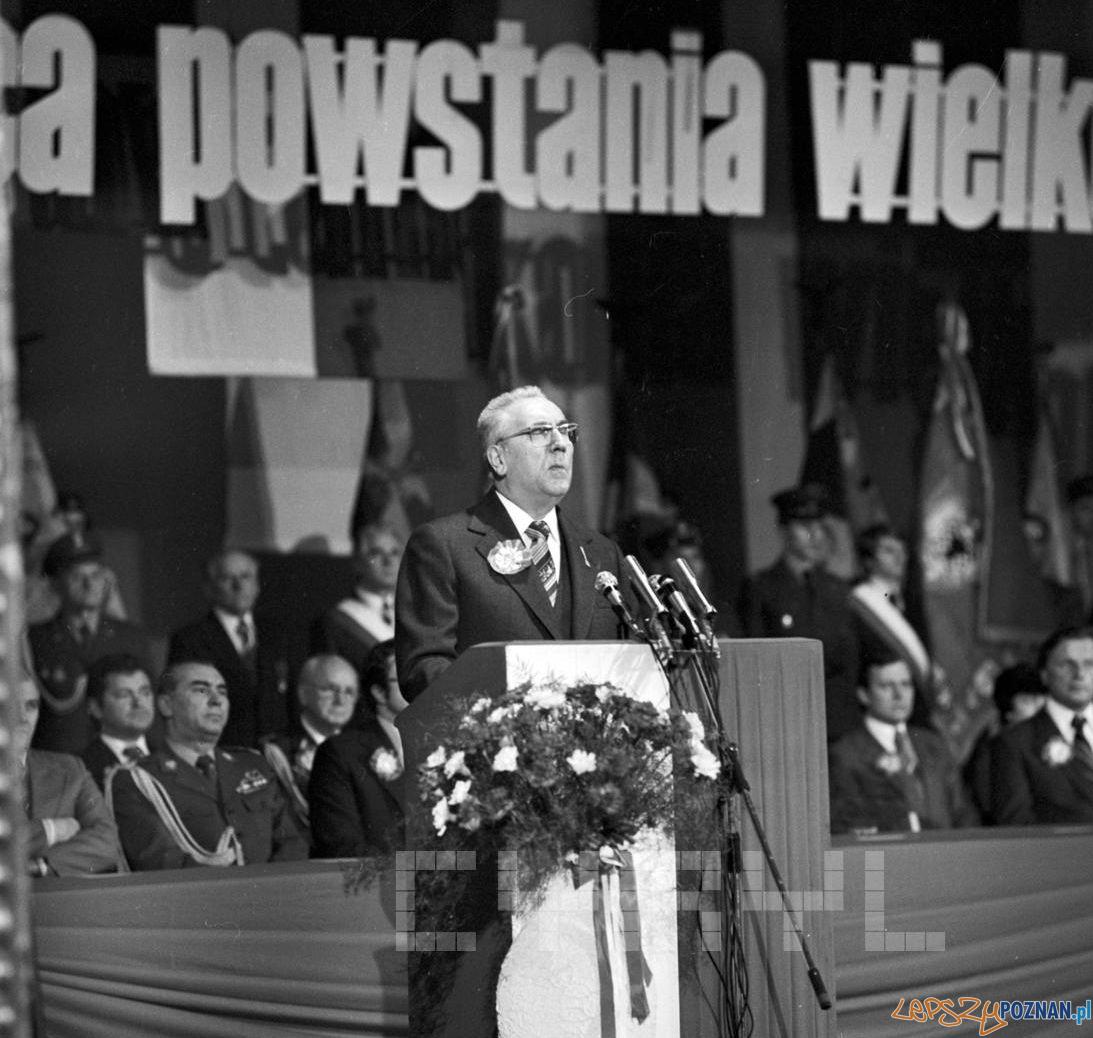 E. Gierek przemawia podczas uroczystosci rocznicowych Powstania Wielkopolskiego 18.12.1978  Foto: Stanisław Wiktor / Cyryl