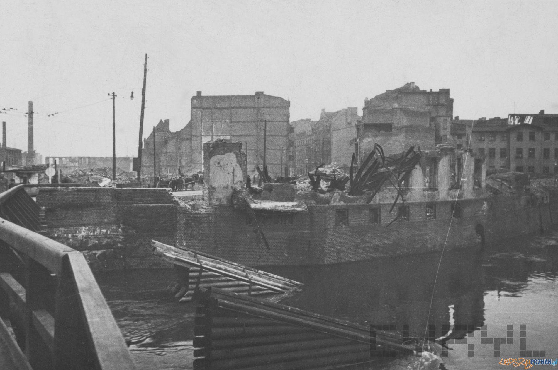 Most Chwaliszewski 1945  Foto: Zbigniew Zielonacki / MKZ / Cyryl