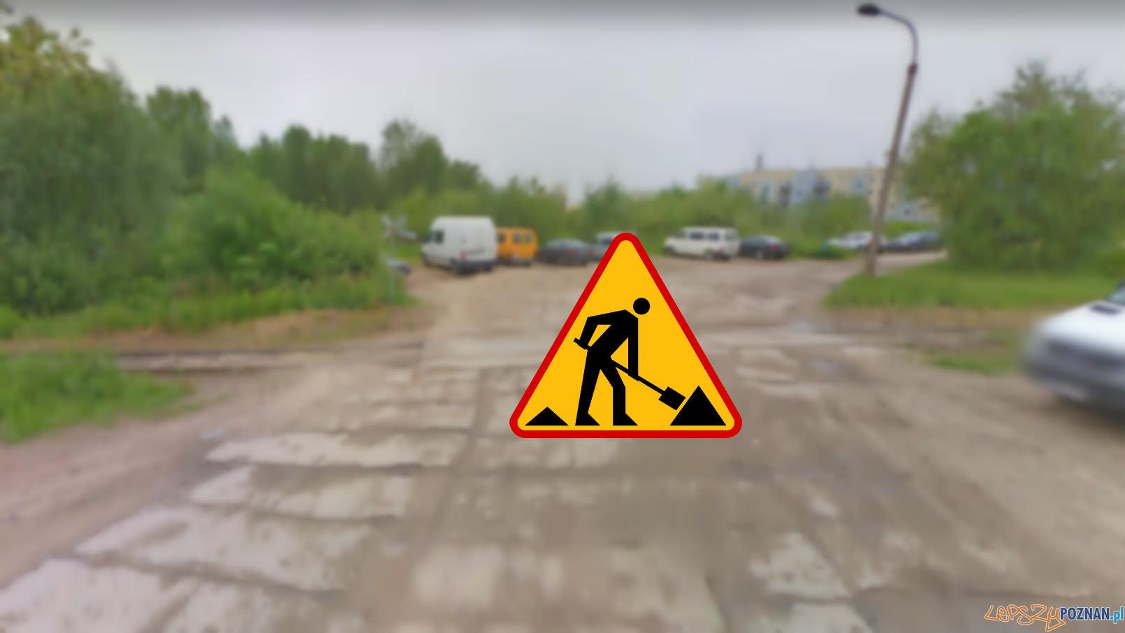 Nowa droga do pętli Franowo  Foto: Google Street View