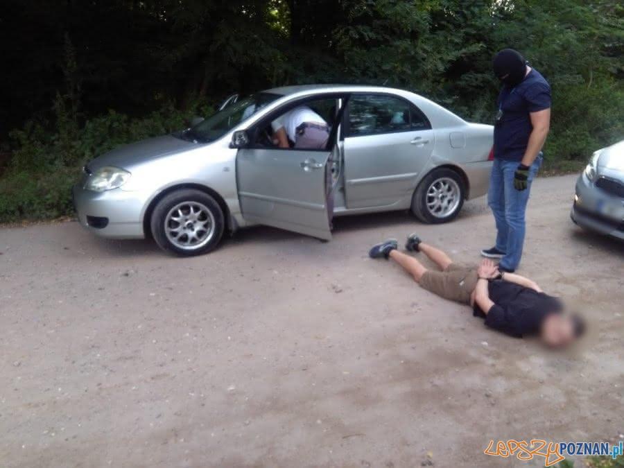 Zatrzymanie złodziei samochodów  Foto: KWP Poznań