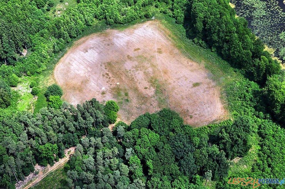 Wieś Gać - zdjęcie z samolotu  Foto: P. Wroniecki