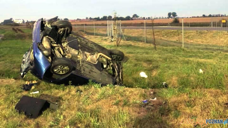 Śmiertelny wypadek na S5  Foto: OSP Kleszczewo