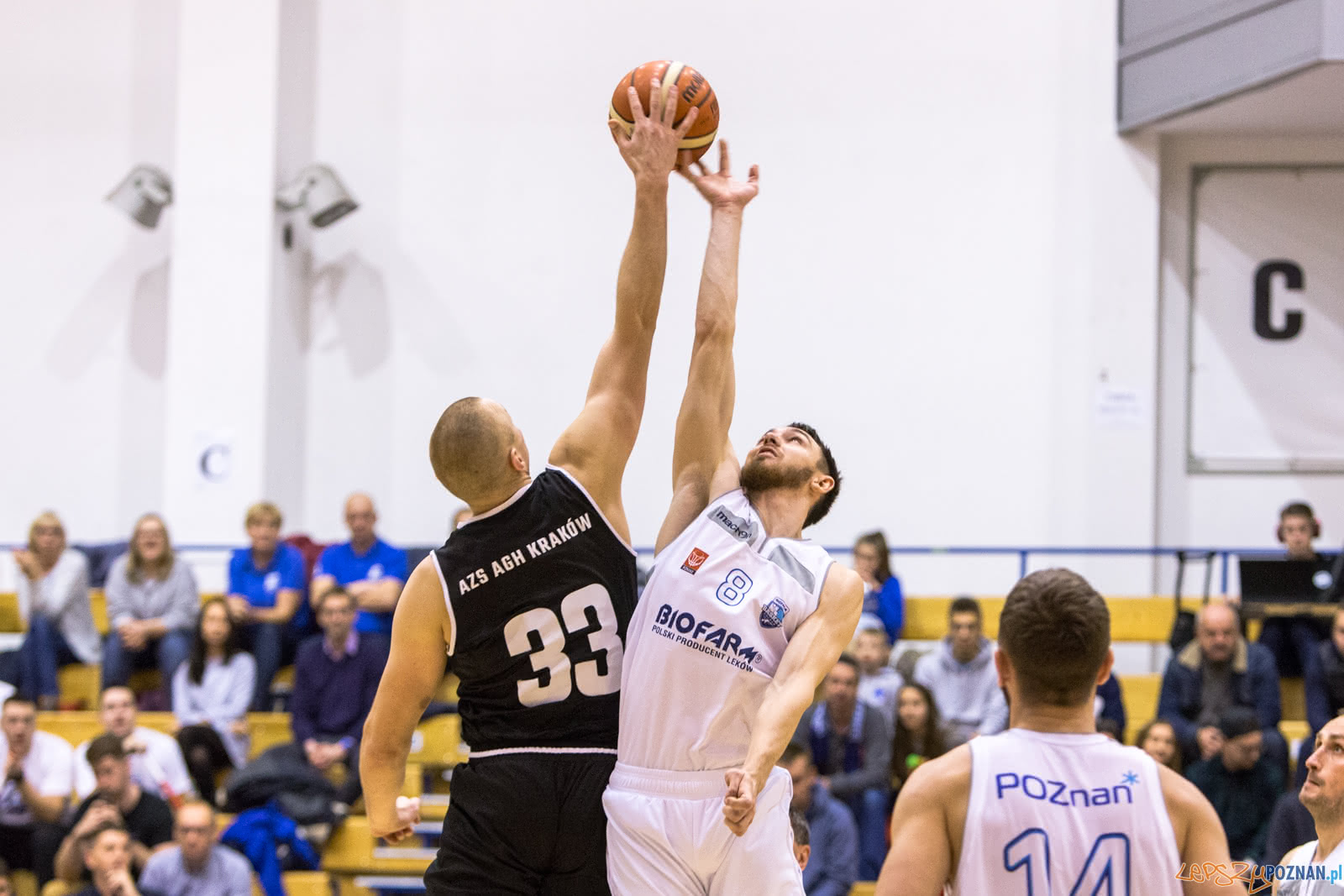 1 liga: Biofarm Basket Poznań - AZS AGH Kraków 77:67 - Poznań  Foto: LepszyPOZNAN.pl / Paweł Rychter