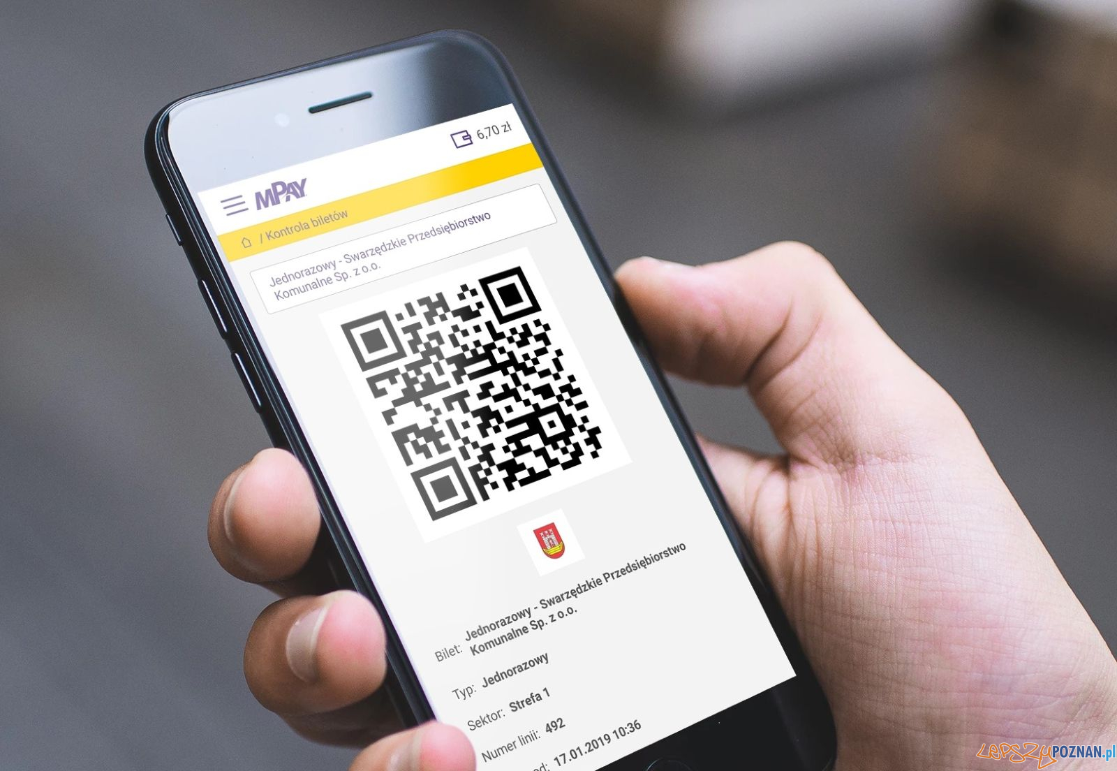 Aplikacja mPay - bilet w telefonie  Foto: materiały prasowe