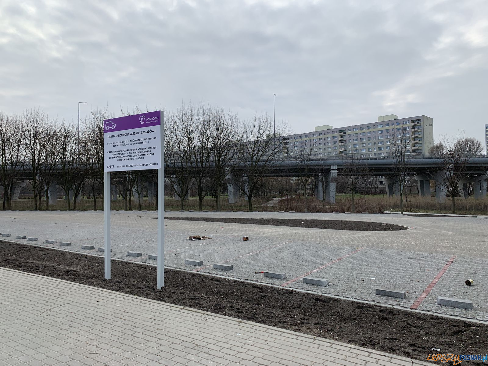Milczańska - nowy parking  Foto: CH Posnania / materiały prasowe