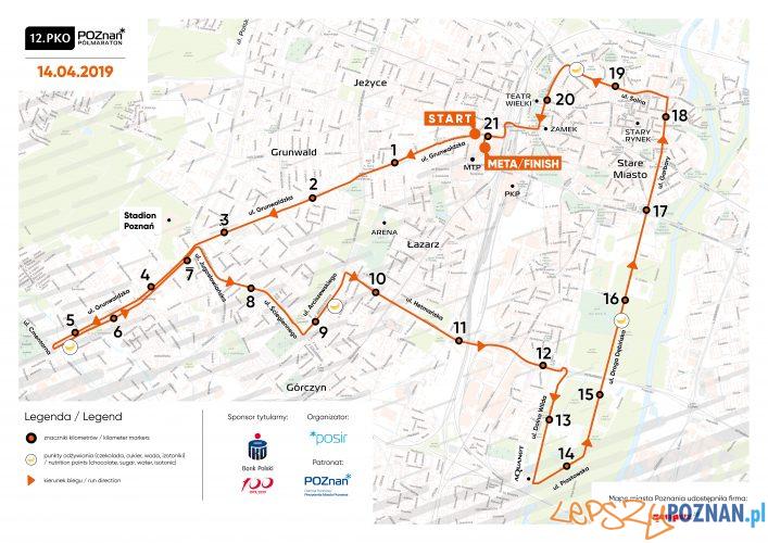Trasa 12.PKO Poznań Półmaratonu  Foto: materiały prasowe