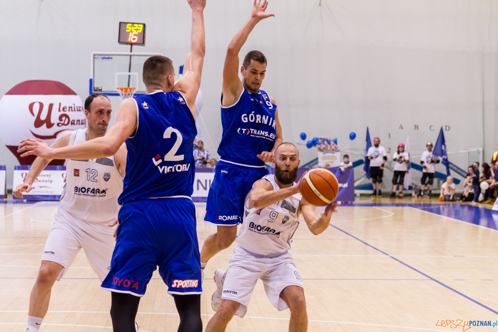 Biofarm Basket Poznań - Górnik Trans.eu Wałbrzych 79:55 - Poz  Foto: LepszyPOZNAN.pl / Paweł Rychter
