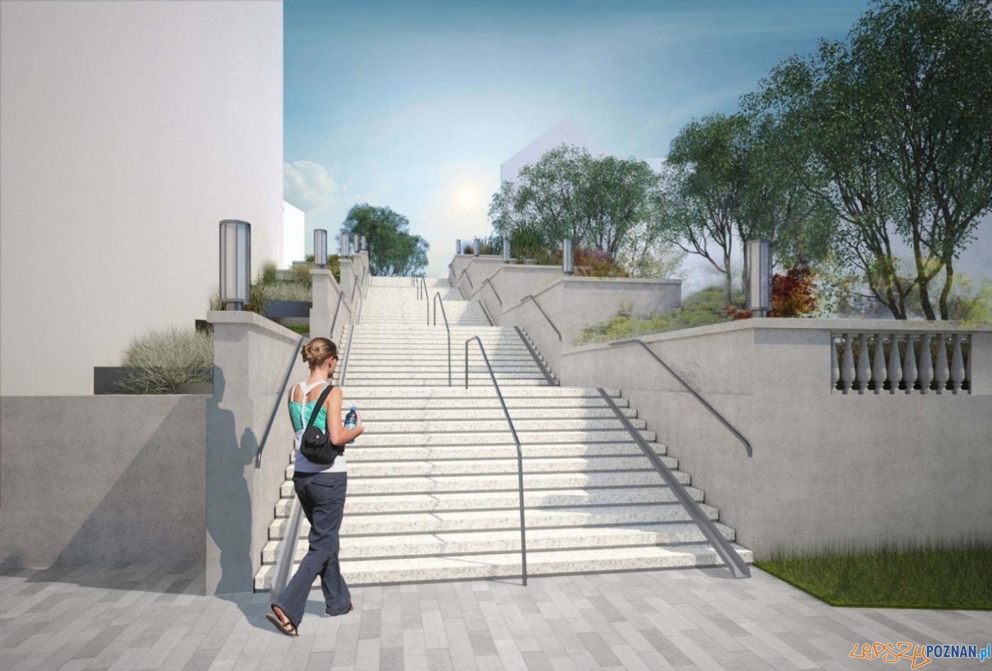Projekt odbudowy schodów na Wildzie  Foto: materiały prasowe / PIM