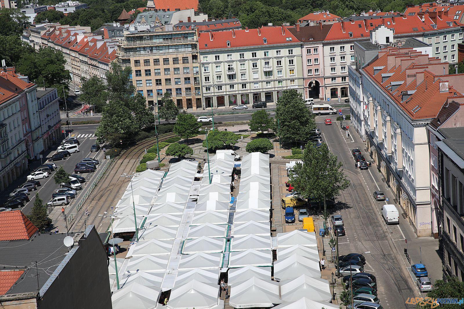 Plac Wielkopolski z zamku Przemysła  Foto: Tomasz Dworek