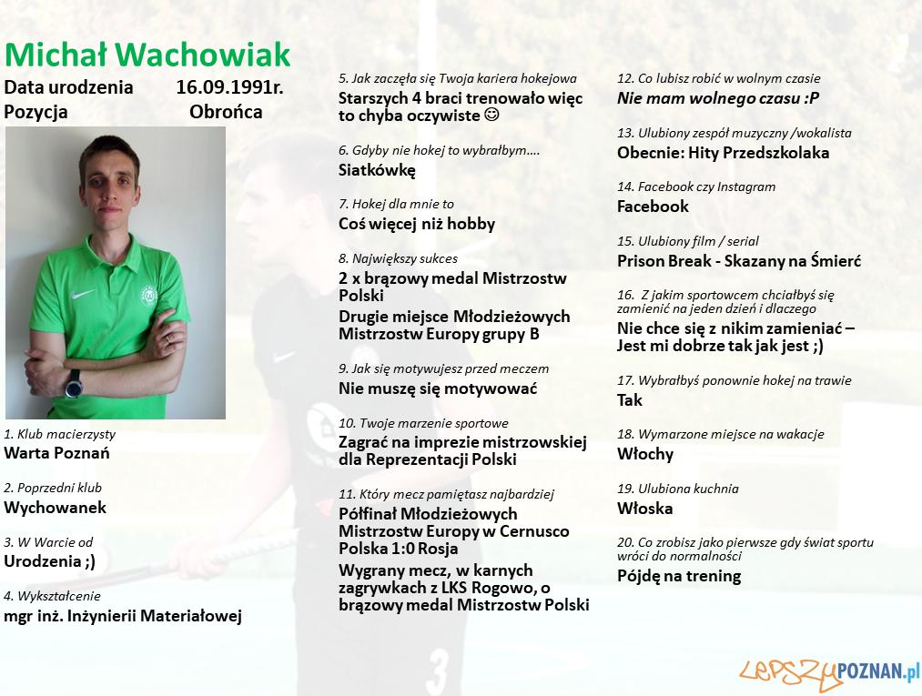 Warta Poznań - Michał Wachowiak Foto: Warta Poznań / materiały prasowe