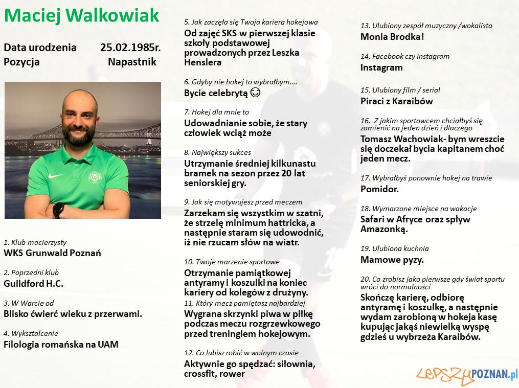 Warta Poznań - Maciej Walkowiak Foto: Warta Poznań / materiały prasowe