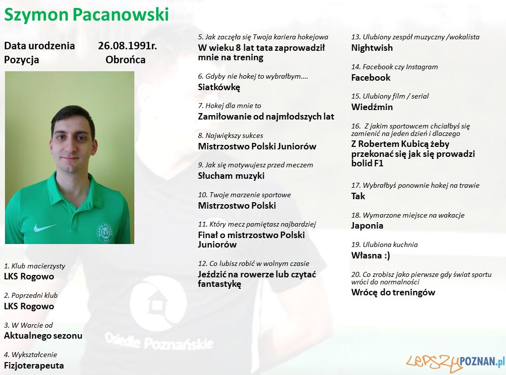 Warta Poznań - Szymon Pacanowski Foto: Warta Poznań / materiały prasowe