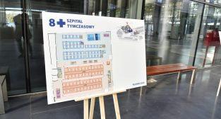 Prace przy budowie szpitala tymczasowego na terenie MTP  Foto: UMP