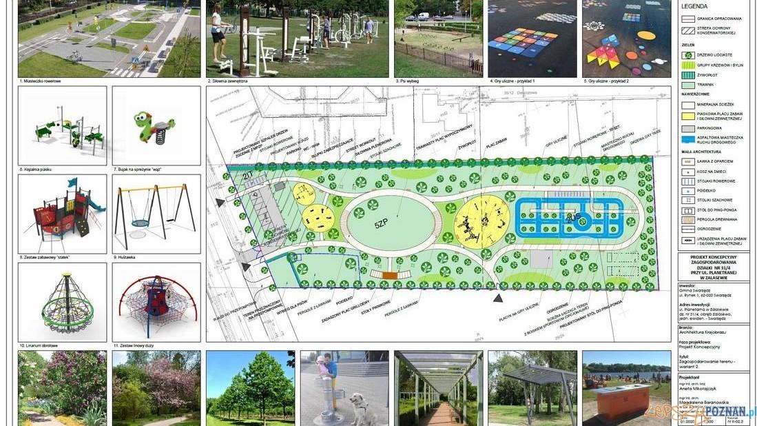 Active Park w Zalasewie - plan Foto: UM Swarzędz