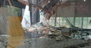 Zawalony dach sali gimnastycznej  Foto: materiały prasowe / UMP