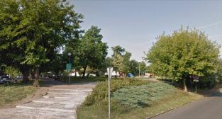 Park przy ul. Piłsudskiego w Obornikach  Foto: Google Street View